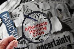 Crise de logement abordable photos stock