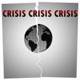 Crise de mundo Imagem de Stock