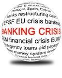Crise de operação bancária Ilustração Royalty Free