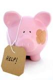 Crise de operação bancária Fotografia de Stock Royalty Free