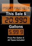 Crise de prix du gaz Photo stock