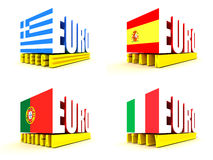 Crise de zone euro Photos stock