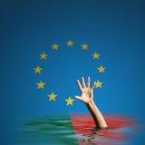 Crise do débito de Portugal na ilustração da União Europeia 3d Imagem de Stock Royalty Free