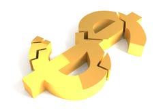 Crise do dólar Imagens de Stock