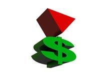 Crise do dólar ilustração stock