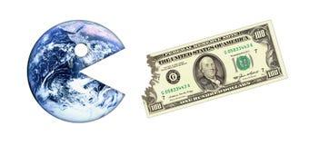 Crise do dinheiro da terra Imagens de Stock