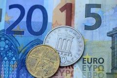 Crise do Euro de 2015 gregos Imagem de Stock