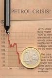 Crise do euro e da gasolina fotografia de stock royalty free