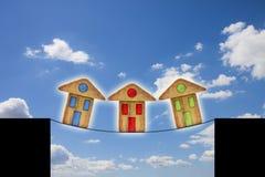 Crise do mercado imobiliário Fotos de Stock