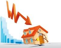 Crise dos bens imobiliários ilustração stock