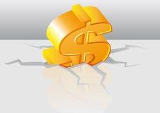 Crise du dollar de vecteur Photographie stock
