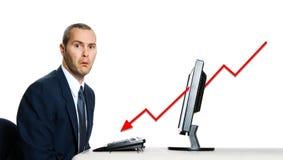 Crise económica fotografia de stock royalty free