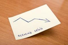 Crise económica Imagens de Stock