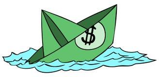 Crise económica ilustração royalty free