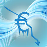 Crise económica imagem de stock
