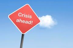 Crise en avant Photo libre de droits