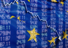 Crise en Europe Photographie stock libre de droits