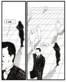 Crise envelhecida meio do homem ilustração do vetor
