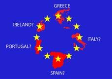 Crise européenne de dette Photos libres de droits