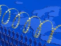 Crise européenne de réfugié image libre de droits