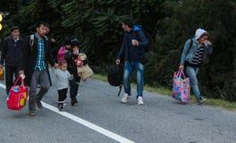 Crise europeia dos refúgios foto de stock royalty free