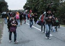Crise europeia dos refúgios imagem de stock