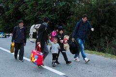 Crise europeia dos refúgios fotos de stock