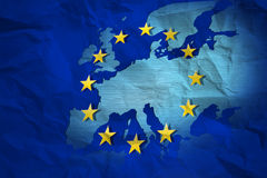 mapa vincado da União Europeia Imagem de Stock Royalty Free