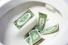 Crise financeira. Imagem de Stock Royalty Free