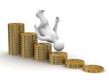Crise financeira. ilustração stock