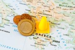 Crise financeira de Grécia Foto de Stock