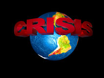 A crise financeira do mundo ilustração stock