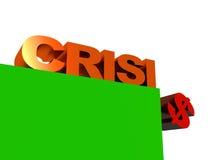 A crise financeira do mundo Fotos de Stock Royalty Free