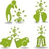 Crise financeira e bancarrota Foto de Stock Royalty Free