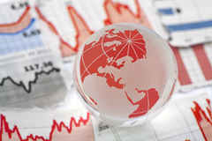 Crise financeira global fotografia de stock