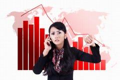 Crise financeira global Imagem de Stock