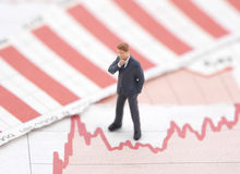 Crise financière Photographie stock libre de droits