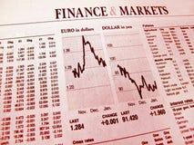 crise financière Image libre de droits