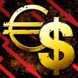 Crise financière du monde Photographie stock libre de droits