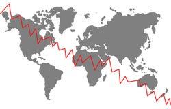 Crise global ilustração royalty free