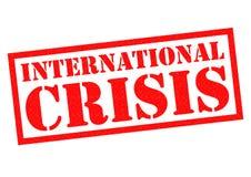 Crise internationale Image libre de droits