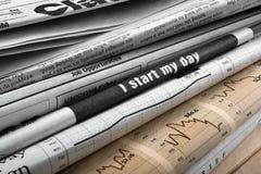 Crise na notícia Fotografia de Stock