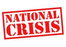 CRISE NATIONALE Image libre de droits