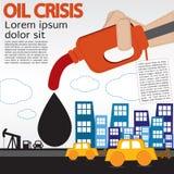 Crise petrolífera. Foto de Stock