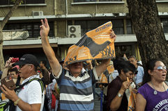 Crise politique thaïlandaise Photo libre de droits