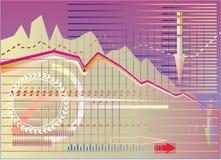 Crises of finance. Background illustration of financial crises royalty free illustration