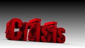 Crisi Fotografie Stock