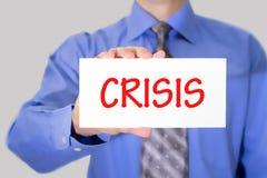 crisi Immagine Stock Libera da Diritti
