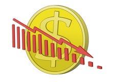 Crisi del dollaro Fotografia Stock Libera da Diritti