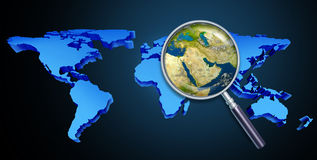 Crisi del Medio-Oriente Immagini Stock Libere da Diritti